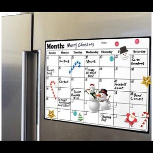 Other - Dry Erase Calendar with Magnets for Refrigerator🆕